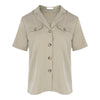 Short Sleeve Safari Shirt in Khaki