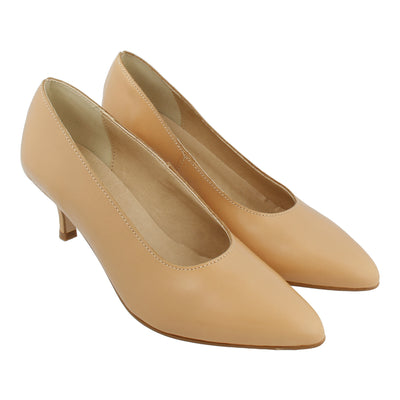 Leather Pumps (Nude)