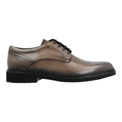 Leather Oxford Shoes (Grey)