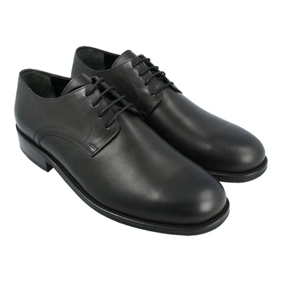 Leather Oxford Shoes (Black)