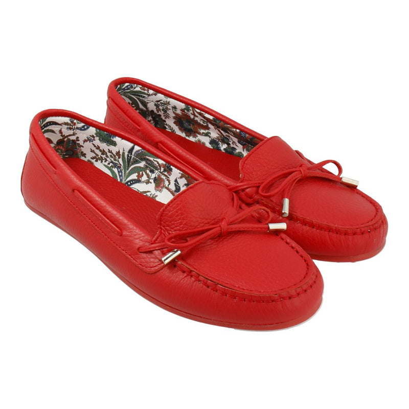Limited Edition Floral Lining Loafer with Bow (Red)