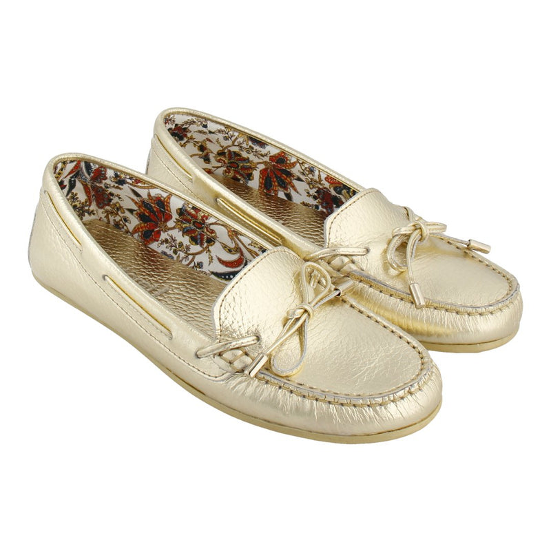 Limited Edition Floral Lining Loafer with Bow (Gold)