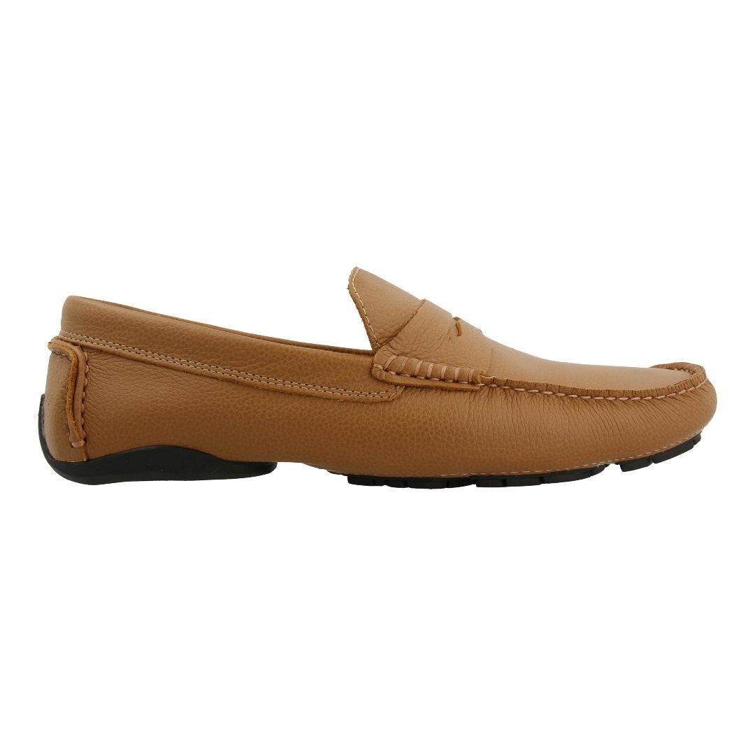 Leather Loafer with Penny Bar (Brown)