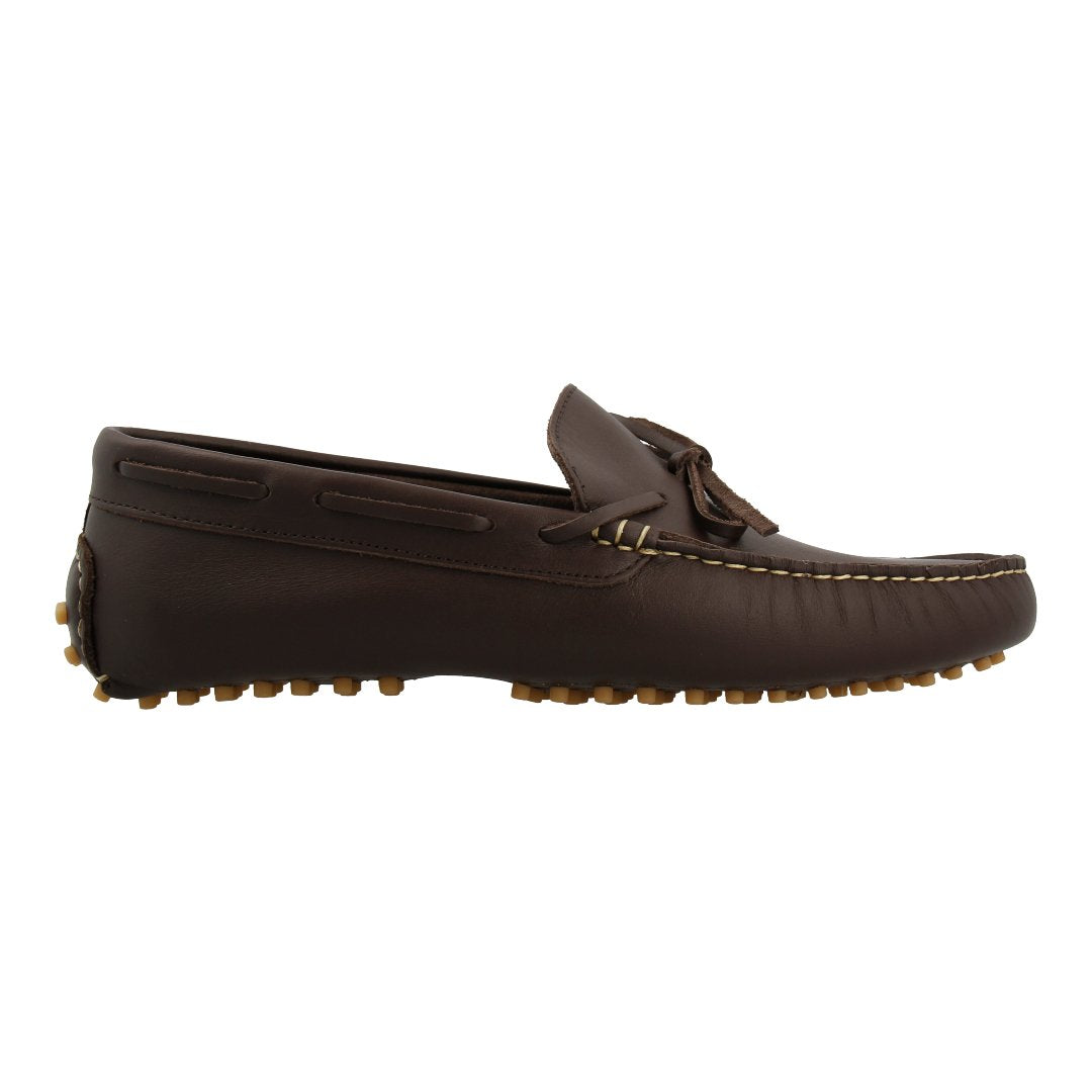 Leather Loafer with Bow (Dark Brown)