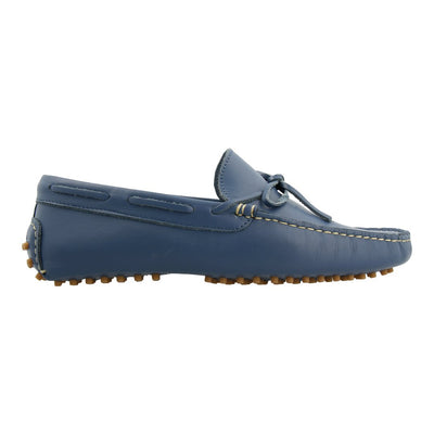 Leather Loafer with Bow (Blue)