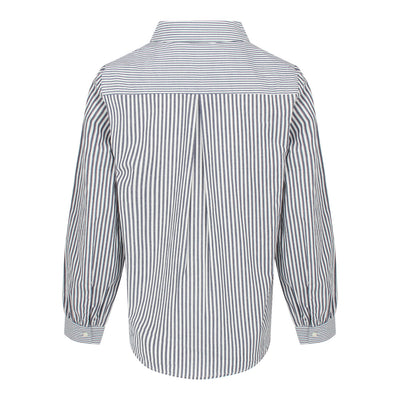 Long Sleeve Stripe Shirt (Navy/White)
