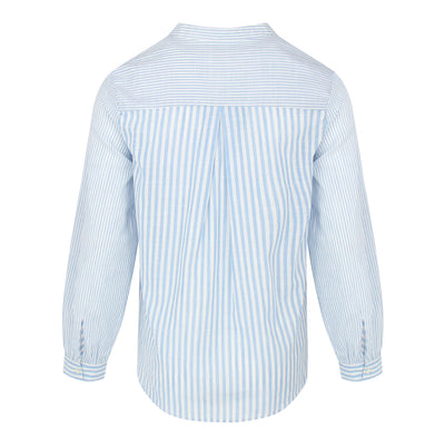 Long Sleeve Stripe Shirt (Light Blue/White)