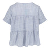 Short Sleeve Tiered Top (Navy/White)