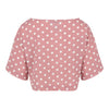 Dots Print Crop Top (Dusty Pink/White Dots)