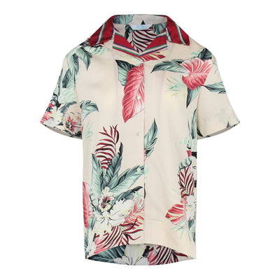 Tropical Print Shirt (Cream/Pink)