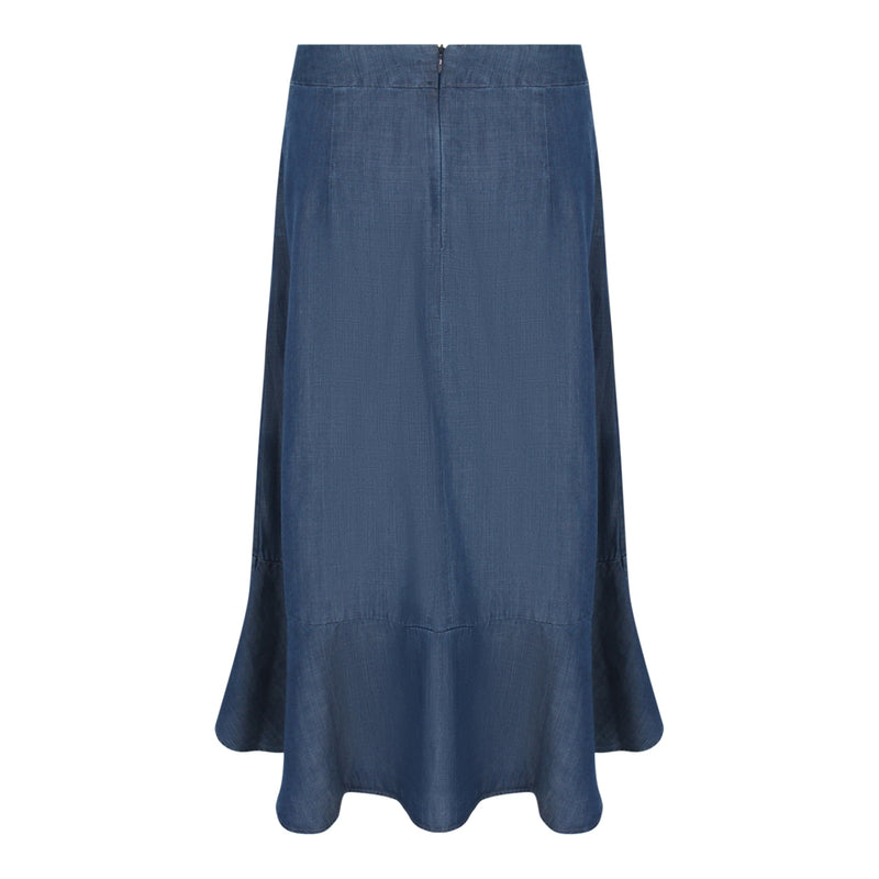 Chambray Skirt (Dark Denim)