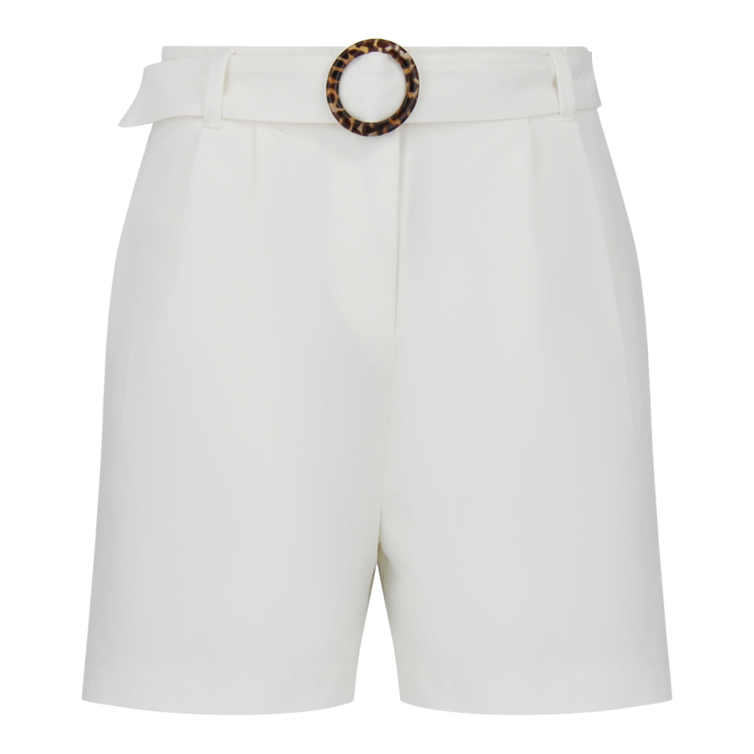 Shorts With Belt (White)