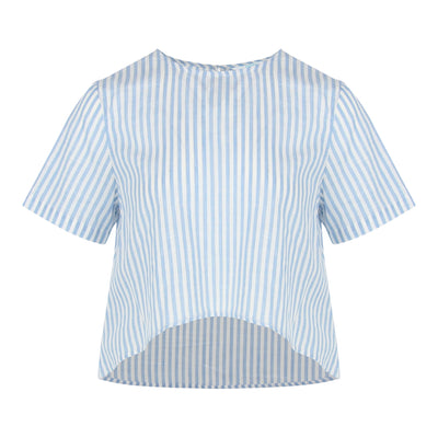 Stripe High Low Top (Light Blue/White)