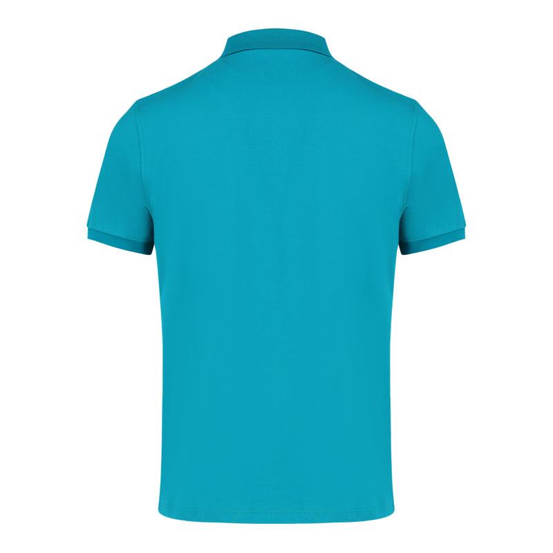 Short Sleeve Polo Shirt in Turquoise Green