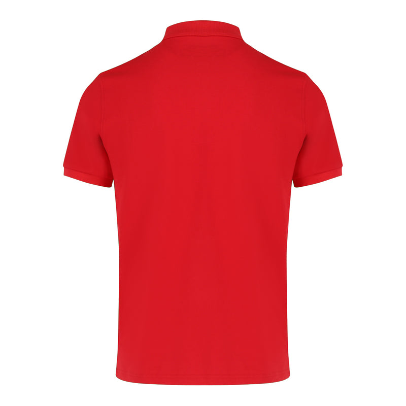 Short Sleeve Polo Shirt in Red