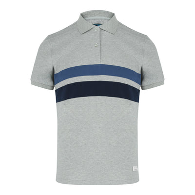 Short Sleeve Polo Shirt in Melange Grey