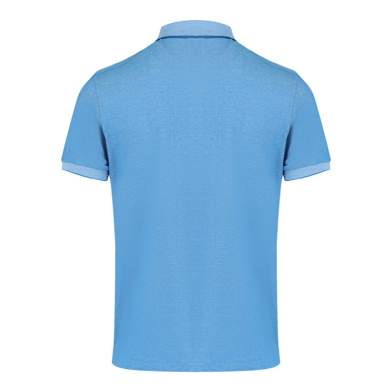 Short Sleeve Polo Shirt in Blue