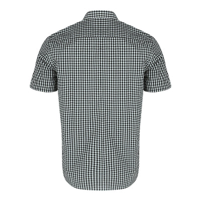 Short Sleeve Checked Shirt in Black