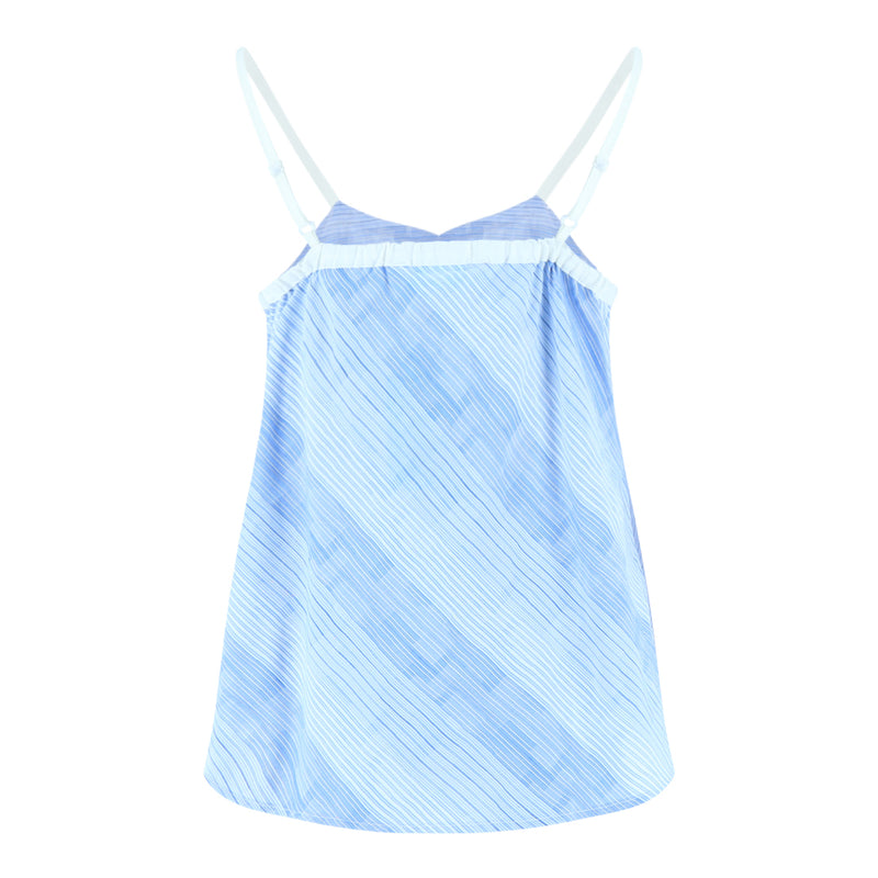 Spaghetti Frill Top (Blue/White Stripes)