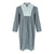 Longsleeve Button A Line Dress (Navy/White Stripe)