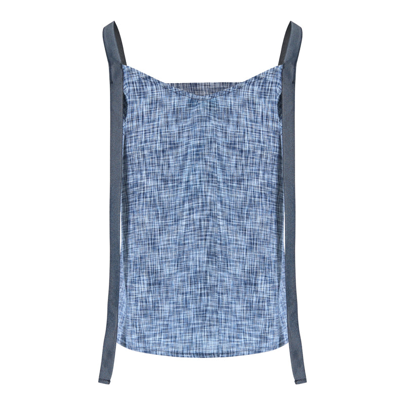 Sleeveless Strap Top (Navy Weave)