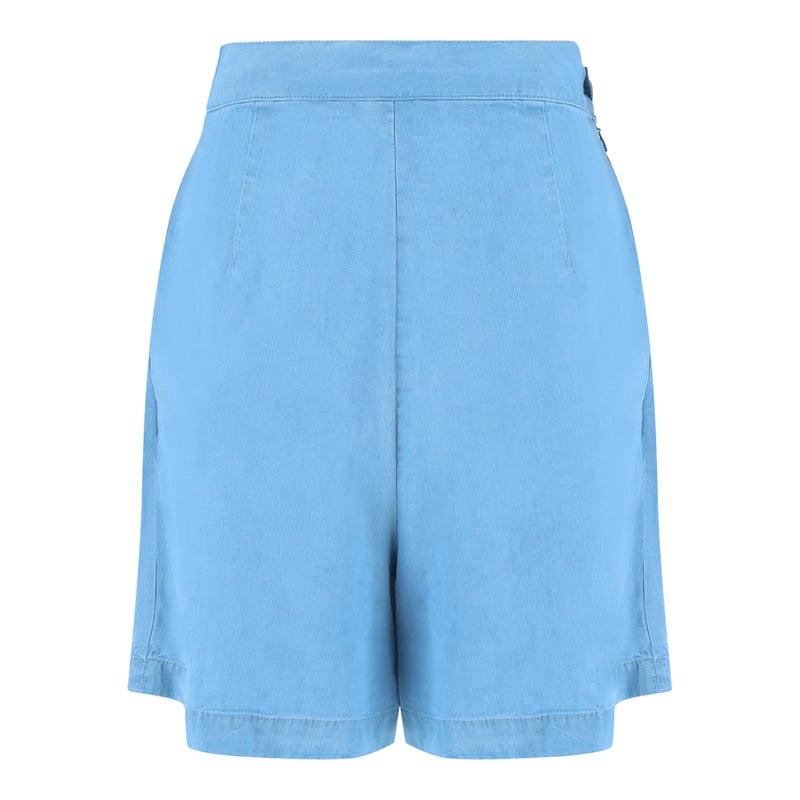 Frill Skort (Light Denim)