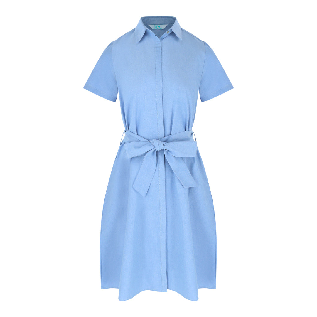 Shortsleeve Shirt Dress (Navy Oxford)