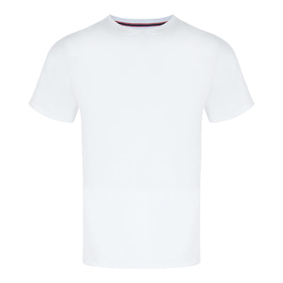 Round Neck Tee in White