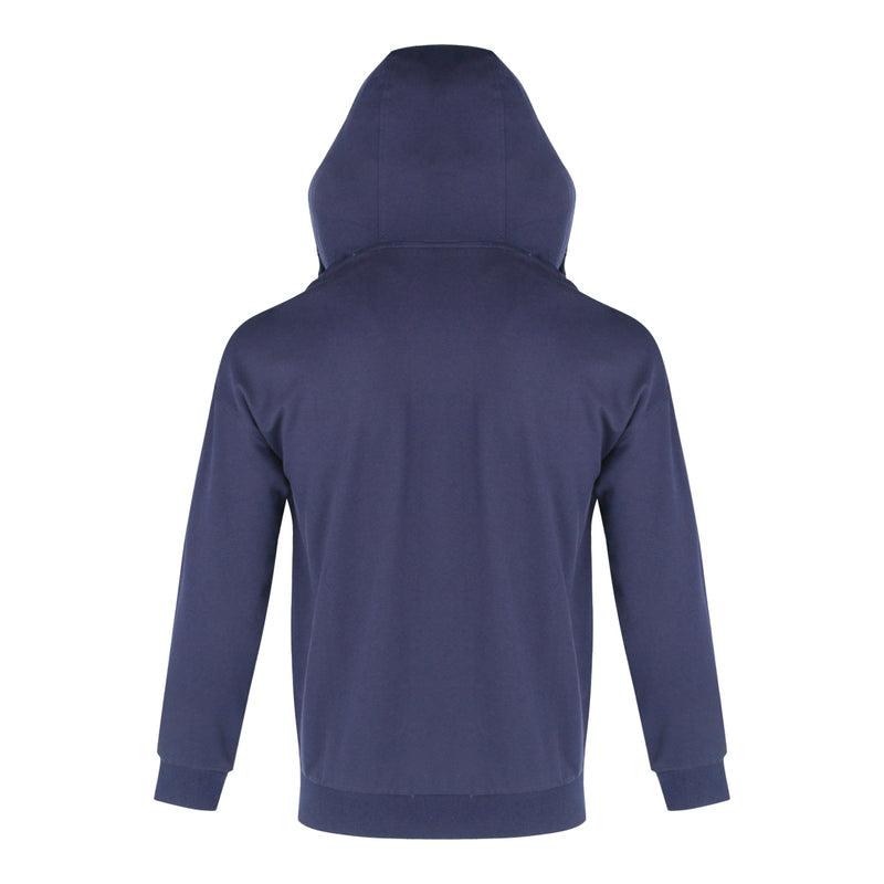 Terry Long Sleeve Jacket With Hood (Navy)