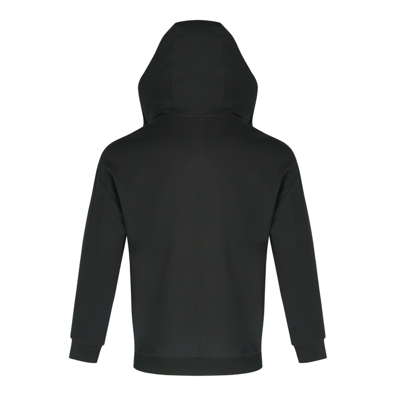 Terry Long Sleeve Jacket With Hood (Black)