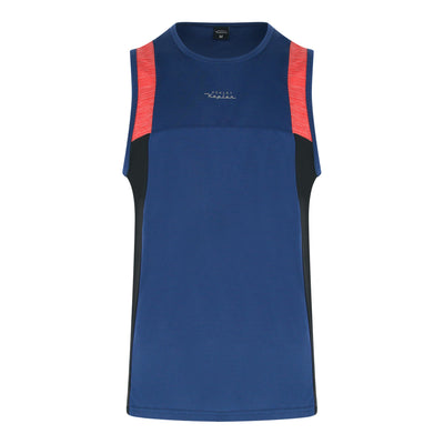 Polyester Round Neck Muscle Tee (Navy)