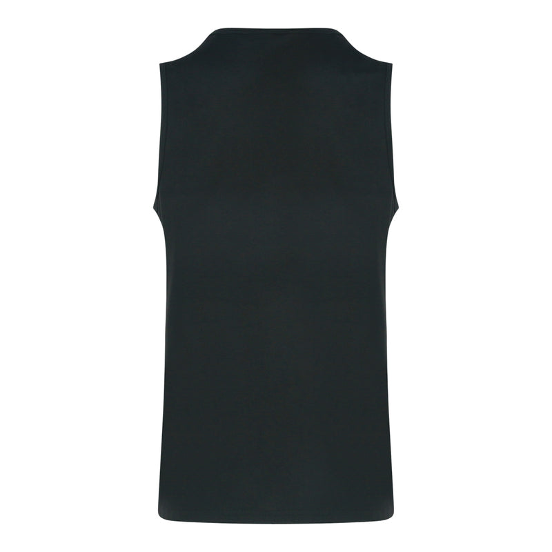 Polyester Round Neck Muscle Tee (Black)