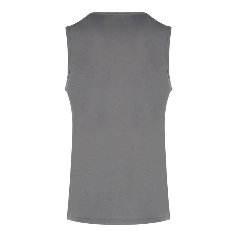 Polyester Round Neck Muscle Tee (Grey)
