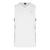 V-Neck Singlet With Side Contrast Panel (White / Grey)