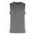 V-Neck Singlet With Side Contrast Panel (Grey / Charcoal)