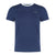 Round Neck Tee With Contrast Panel At Shoulder (Navy)