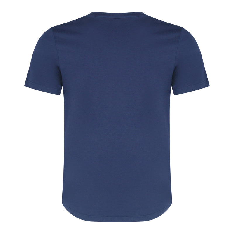 Round Neck Tee With Patch Pocket (Navy)