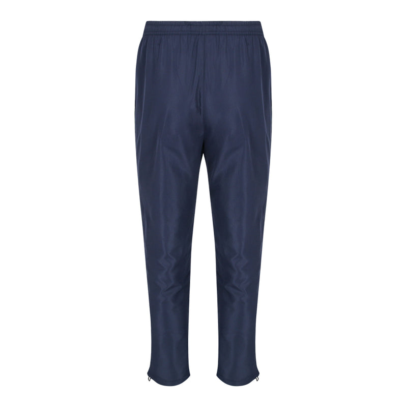 Pull String Long Pants With Piping At Sides (Navy)