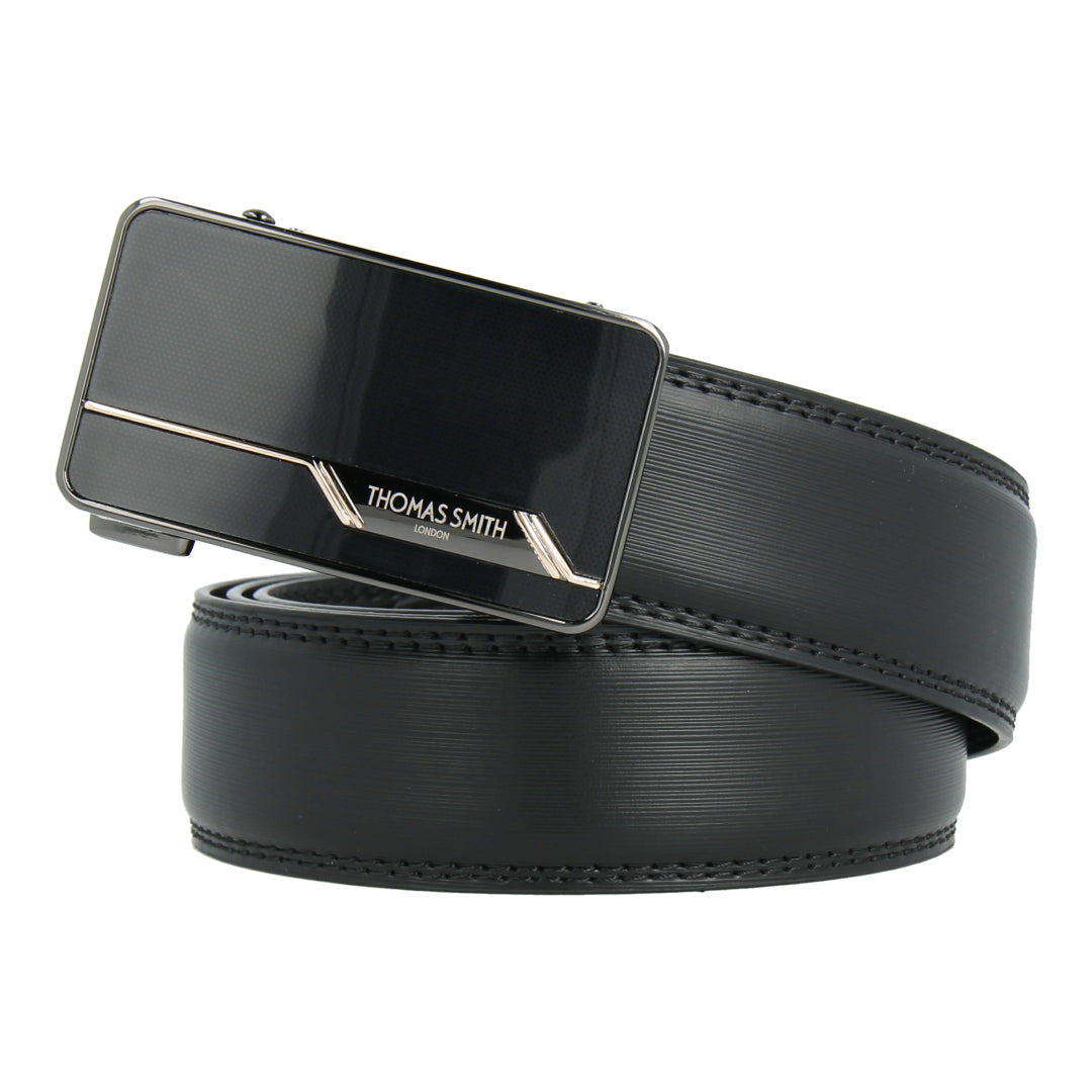 Auto-Lock Leather Belt (Black)