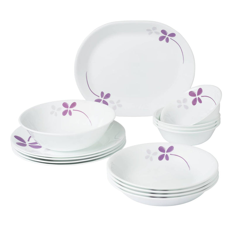 14pc Dinner Set, Warm Pansies