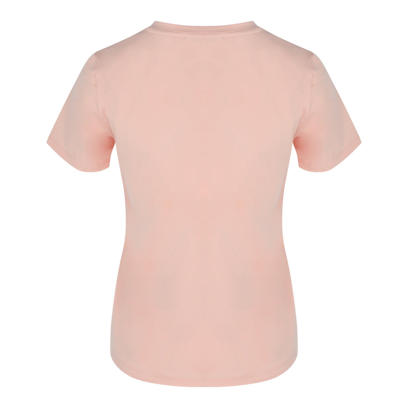 Short Sleeve Crew Neck Tee in Pink Dogwood