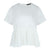 Short Sleeve Pleated Bottom Top in Off White
