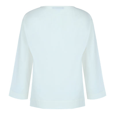 Long Sleeve Overlap Top in Off White