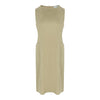 Sleeveless Straight Cut Dress in Khaki