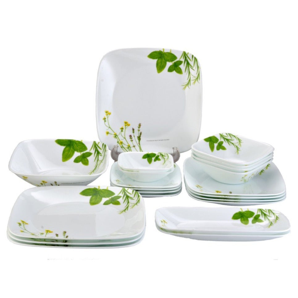 21pc Dinner Set, European Herbs