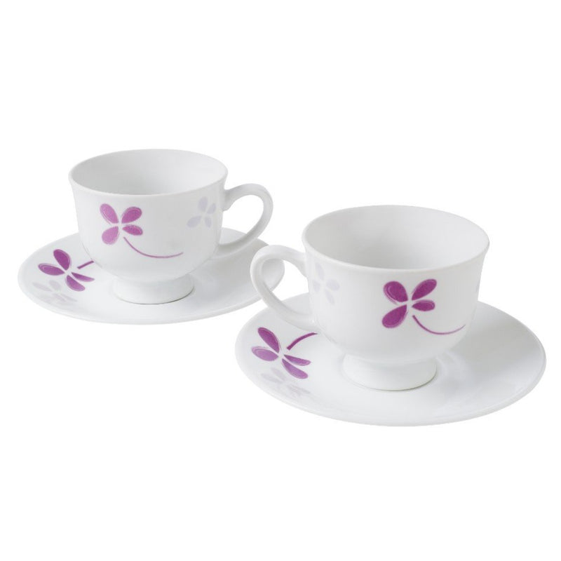 4pc Teacup Set, Warm Pansies