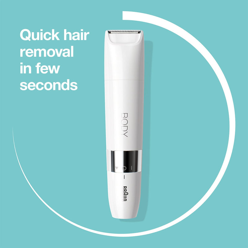 Body Mini Trimmer BS1000 Wet & Dry with Trimming Comb (White)