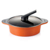 24cm/2.8L Alumite Ceramic Die-Cast High Stock Pot - Orange