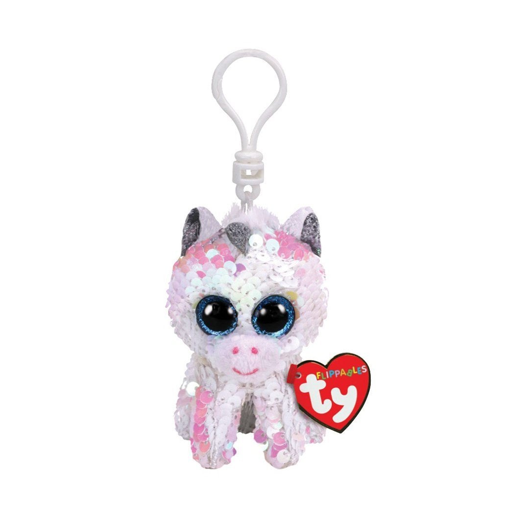 Ty Flippables 5in Clip - DIAMOND - White Unicorn Sequin