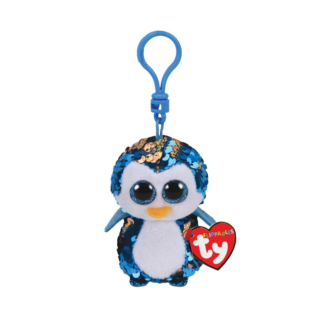 Ty Flippables 5in Clip - PAYTON - Blue Penguin Sequin